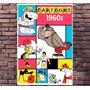 Poster Exclusivo Cartoon Desenho Hanna Barbera Retro 30x42cm