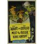 Abbott E Costello Conheça O Assassino Boris Karloff Poster