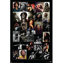 Poster (61 X 91 Cm) Bob Marley - Collage