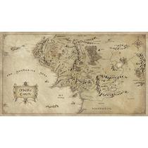 Mapa Terra Media - O Senhor Dos Anéis - Poster Lona 50x90cm