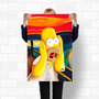 Poster Homer Simpsons Scream 90x60 O Grito Cult Hq Art C115