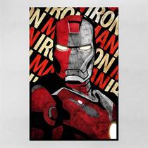Poster 60x90cm Filmes Vingadores Iron Man Homem De Ferro