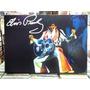 Elvis Presley Violão Jumpsuit Lindo Quadro Poster Madeira