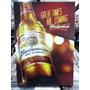 Budweiser Cerveja Lindo Quadro Poster Madeira