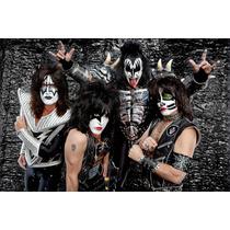 Kiss Banda - Monsters Of Rock - Poster Em Lona 60x40cm