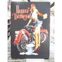 Harley Davidson Pinup Lindo Quadro Poster Madeira