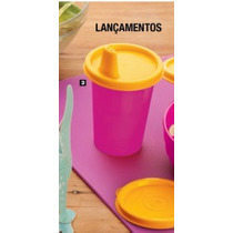 Vazilha Tupperware Copinho Rosa 500ml