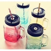 Copo/jarra/pote Vidro - Mason Jar 500ml Ice Cold Vintage