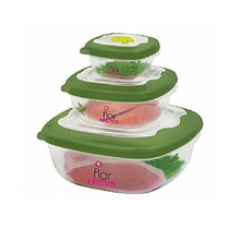 Tupperware Tapoer 3 Potes Microondas Válvula Saída De Vapor