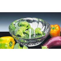 Cesto Cozimento A Vapor Inox - Legumes Cozinha Panelas Casa