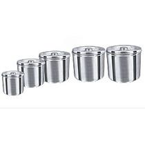 Porta Mantimentos - Jogo De Latas De Alumínio 5 Peças