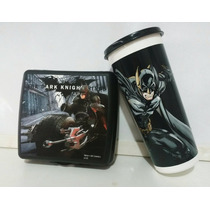 Kit Copo E Porta Sanduiche Batman Tupperware