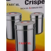Conjunto De 3 Potes Herméticos Para Mantimentos-aço Inox