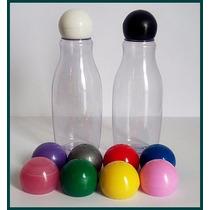 50 Garrafinhas De Plástico Boliche 60ml Com Tampa Bola