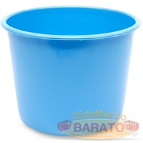 20 Balde Pipoca Azul Celeste 1 Litro - R$0,89un