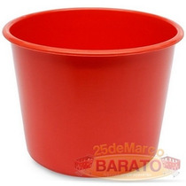 25 Balde Pipoca Vermelho P/ Personalizar 1 Litro Só R$0,99un