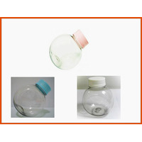 Mini Baleiro Plastico Pote Bola 50ml Tampa Colorida 10 Unid.
