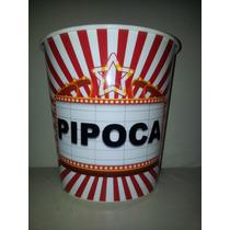 Balde Para Pipoca Grande 3 Litros Cinema Em Casa Pote