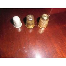 Dedal Antigo-lote De 3 Peças Em Metal