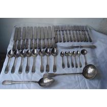 Antigo Faqueiro De Prata De Lei- 10 Dinheiros - Século 19