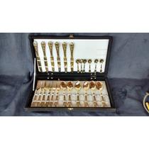 Faqueiro Com 24 Pçs Na Caixa E Mais 24 Pçs A Vulsa Dourados