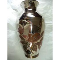 Vaso Em Prata 90 Machetado Em Cobre E Bronze