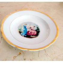 Prato Fruteira Centro De Mesa Antigo Da Porcelanas Real
