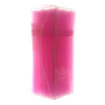 Canudo Neon Flexível Pink Com 150 Unidades Bicão