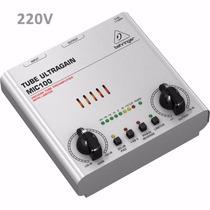 Pré Amplificador Valvulado Behringer Mic 100 Mic-100 Mic100