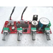Placa Montada Pré Amplificador Controle Tons Com Ci Lm1036