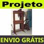 Projeto Mecânico Prensa Hidráulica 25 Toneladas Envio Grátis
