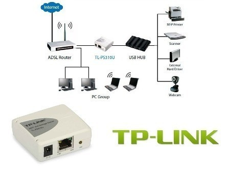 Print Server Tp-link Tl-ps310u Usb2.0 1port Storage