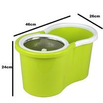 Spin Mop Cesto Em Inox Balde Mágico 360° + 2 Refis Grátis