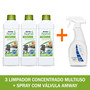 Amway Kit 3 Loc Limpador Multiuso Concentrado + 1 Spray