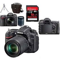 Câmera Nikon D7100 Kit 18-105 + Cartão 32gb + Bolsa + Tripé
