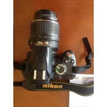 Câmera Nikon Profissional D3000 10mpixels Com Lente Original