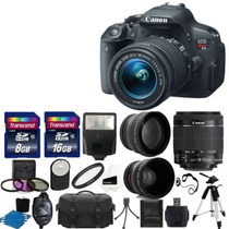 Câmera Digital Canon Eos Rebel T5i 18.0 Mp Cmos Slr Completa