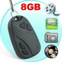 Chaveiro Espião Câmera Vídeo Com Áudio E Fotos + Cartão 8gb