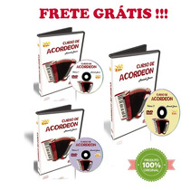 Curso Dvd Video Aula Acordeon Maxwell Bueno Kit 03 Cursos