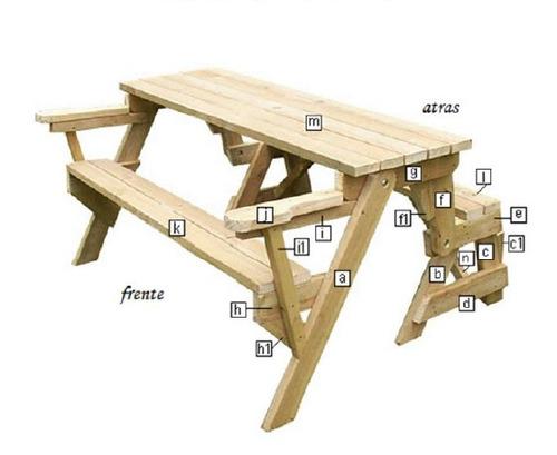 banco de jardim mesa:Projeto Completo Banco Vira Mesa Mesa Vira Banco Marcenaria – R$ 7,00