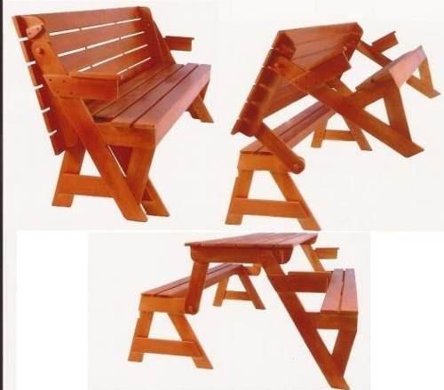 banco de jardim mesa:Projeto De Moveis Cadeira Vira Escada + Banco Que Vira Mesa – R$ 4,98