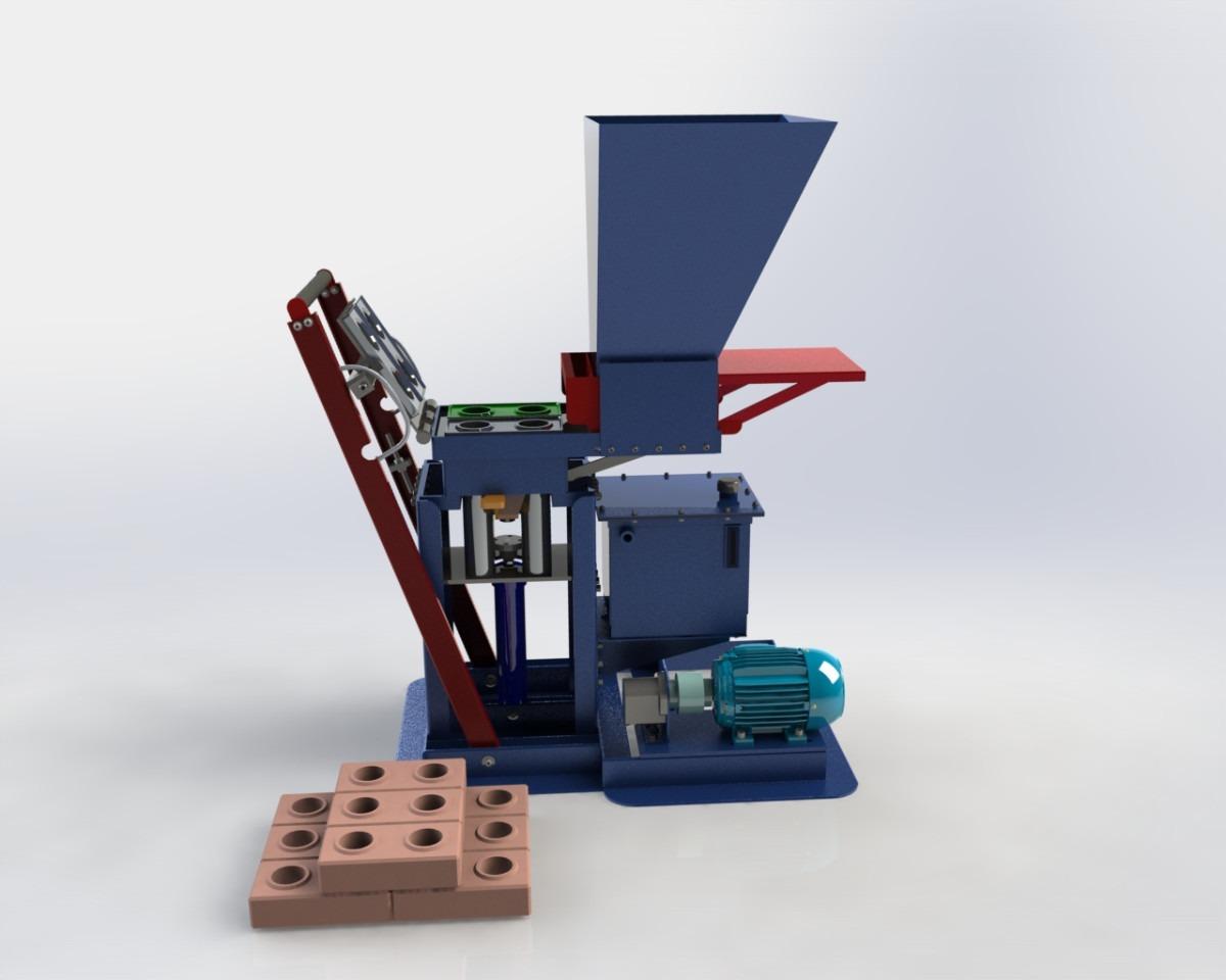 Projeto Máquina Tijolo Ecológico Hidraulica R$ 300 00 no  #30667C 1200 960