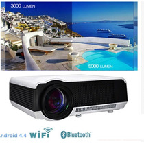 Projetor Led 5000 Lumens Android 4.4 Wifi Hd 1080p Home Cine
