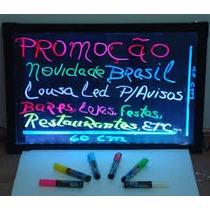 Painel Luminoso Lousa Quadro Led Neon 40x60