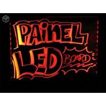 Quadro Letreiro Painel De Neon Luminoso 43 X 23 Cm Promoção
