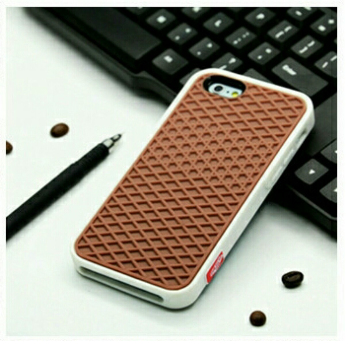 Capa Case Vans Iphone 5 Rubber Waffle Case Vans Mlb O 3363145724 ...