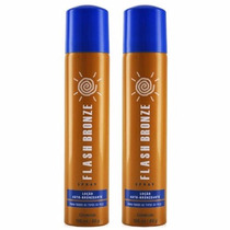 Kit 2 Flash Bronze Spray Auto Bronzeador A Jato