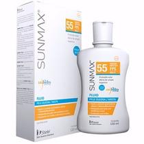 Protetor Sunmax Fluid Fps 55 Pele Oleosa E Mista 120ml