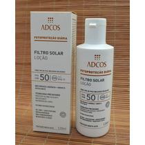 Filtro Solar Loção Fps 50 Adcos Com 120ml