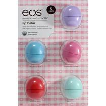 Cartela De Eos Lip Balm Prot. Labial Kit Com 5 Frete Grátis